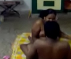 House Owner Aunty Drilled by neighbor recorded by his friend