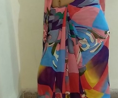 Indian desi spliced removing sari and fingering pussy farm creep with bellyaching cramp