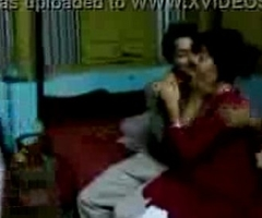 Bangladeshi Hot Village girl kissing alongside her make obsolete - Wowmoyback