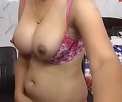 Hot punjabi bhabhi shwoing knockers at www.JuicyGirlCams.com