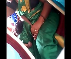 Aunty in bus.. blouse nipp visible... Watch carefully 2