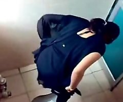 3 College Girls Pissin round Toilet be useful to Famous Mumbai College