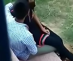 Close-knit sex with sister in park